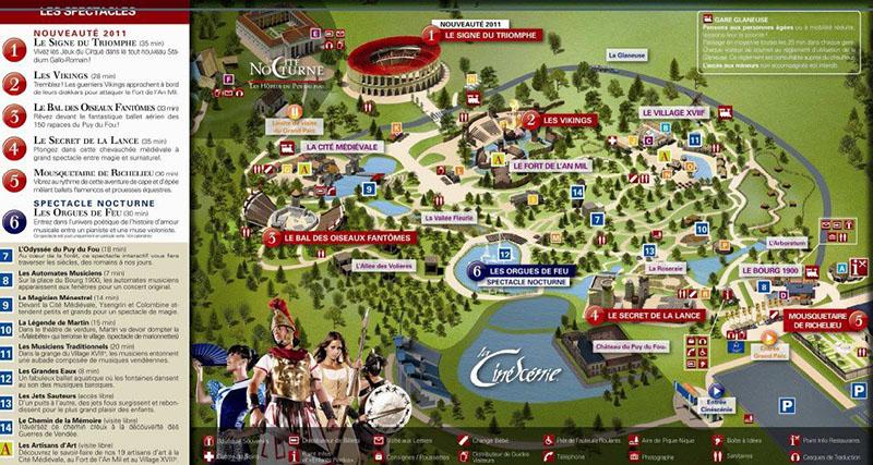 le plan du Grand Parc du Puy du Fou
